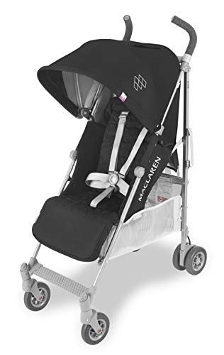 Maclaren Passeggino Quest - Super accessoriato, leggero, compatto. Newborn Safety System, compatibile con la Culla portatile Maclaren, cappottina estensibile UPF 50+/impermeabile, accessori inclusi.