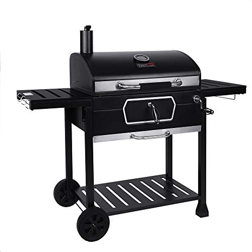 Royal Gourmet CD2030AN 30Inch Charcoal Grill Deluxe BBQ Smoker Picnic Camping Patio Backyard Cooking Black