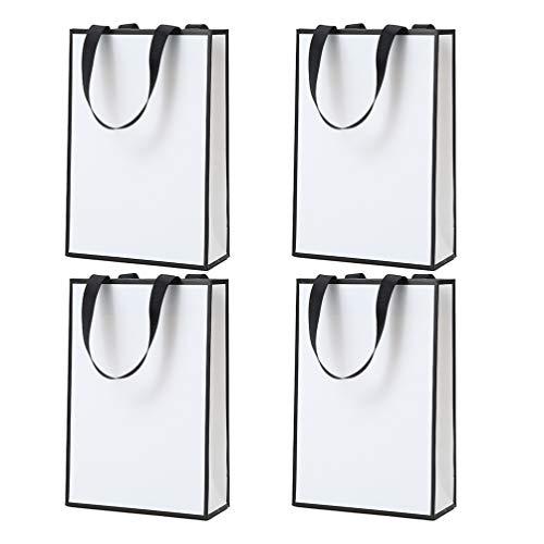 KESYOO ギフトバッグ 紙袋 手提げ袋 板紙 ボール紙 ラッピング袋 プレゼント おしゃれ 引き出物袋 結婚式 ギフト4個セット(Style 5)