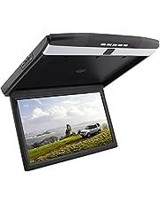 15''HD 1080P del coche de montaje en techo, tapa de monitor de pantalla de coches reproductor de arriba de la pantalla ancha LCD con entrada USB / SD / AV