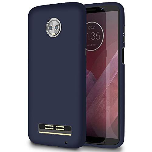 6.09 Bumper Antiurto per Motorola Moto Z3 Play   Blu Scuro   Colorazione Opaca ed