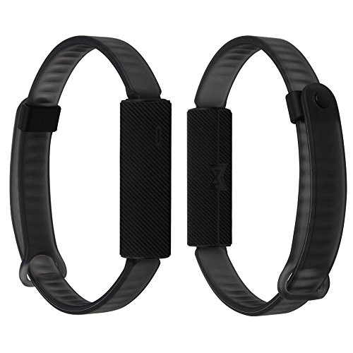 Skinomi Black Carbon Fiber Full Body Skin Compatible with Misfit Ray Fitness Tracker (Full Coverage) TechSkin Anti-Bubble Film