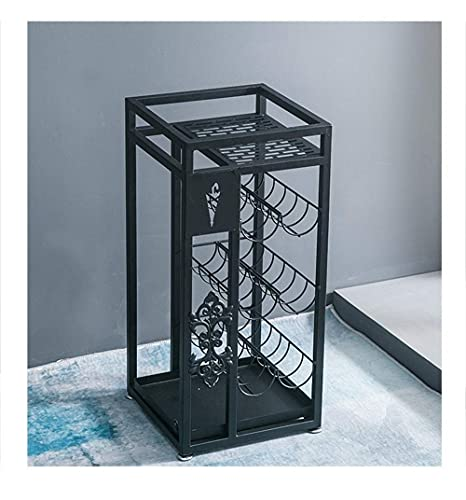 N/Z Home Equipment Umbrella Stand Pure and Simple Ingenuity Wrought Iron Home Hotel Lobby Office Large Capacity Umbrella Bucket (Color : Gold)