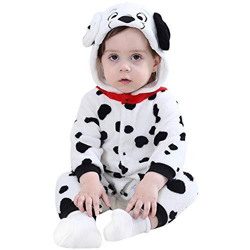 LOLANTA Baby Dalmatiner Hund Husky Onesie Kostüm Geburtstagsgeschenk Mädchen Junge Karikatur Tier Jumpsuit Spielanzug (12-17 Monate/ 73-80 cm, Dalmatinischer)