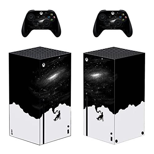 LUONE Nouvelle arrivée Sticker Protecteur de Jeu pour la série Xbox Série X Couverture de décalque en Vinyle pour la Console Xbox Series X et 2 contrôleurs,0363