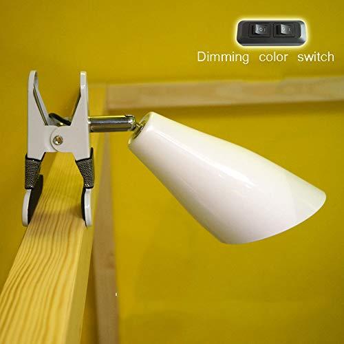 WETRR Klemmen Sie das Leselicht für die Bettkopfplatte, die LED-Nachtlicht-Schreibtisch mit USB-Anschluss Doppelschalter Dimming Kids Baby Kindertisch Lampe