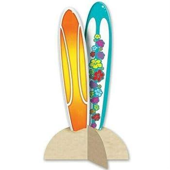 3-D Surfboard Centerpiece Surf Beach Surfboard Party Decorations ndKN-06