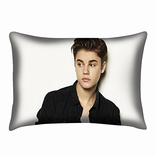 Justin Bieber Funda de almohada cojín almohada antideslizante Dos Caras 20x 30pulgadas