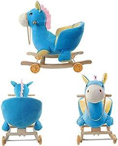 Xian Mecedora Infantil, Juguete de Peluche Caballo Mecedora Juguete de Peluche para niños, Columpio de Felpa para niños y bebés