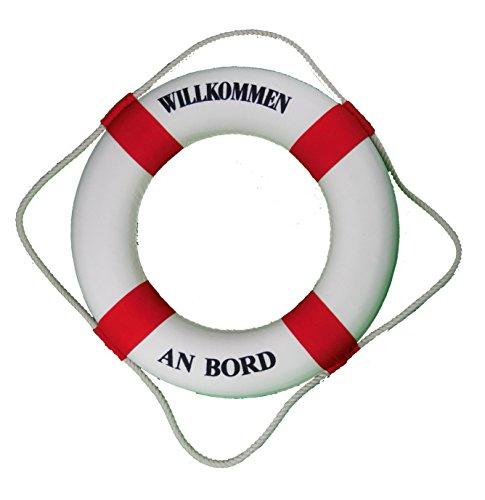 großer DEKO Rettungsring rot-weiss Ø 50cm Willkommen an Bord