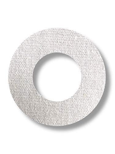 FixTape ademende sensor tape-ring voor Freestyle Libre 1 & 2 I ronde zelfklevende patches met gat voor glucose sensor I veel draagcomfort I huidvriendelijk watervastI 7 stuks (Witte)