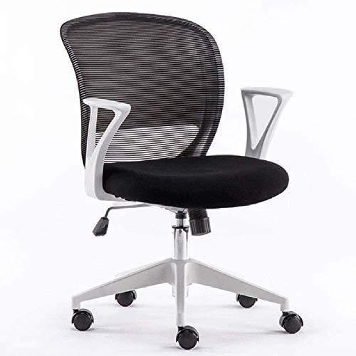 QIANMEI Bürostuhl Drehstuhl Ergonomischer Schreibtischstuhl   Einstellbarer und atmungsaktiver Bürostuhl   Mesh Swivel Home Task-Stühle mit gepolsterter Sitz und Armlehne, schwarz
