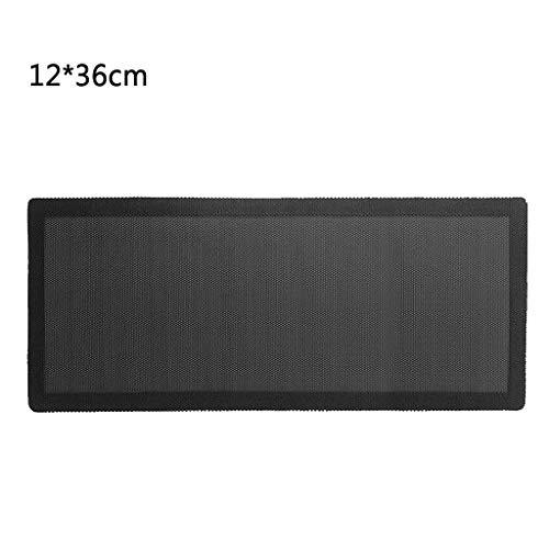 bobeini 14x28mm / 12x36mm Caja de PC Filtro de Polvo de refrigeración Cubierta de Ventilador de protección de energía de PVC magnético Negro
