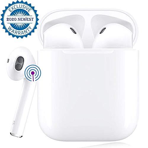 Bluetooth Kopfhörer,In-Ear Kabellose Kopfhörer,Bluetooth Headset,Sport-3D-Stereo-Kopfhörer,mit 24H Ladekästchen und Integriertem Mikrofon Auto-Pairing für Android/iPhone/AirPods/Samsung