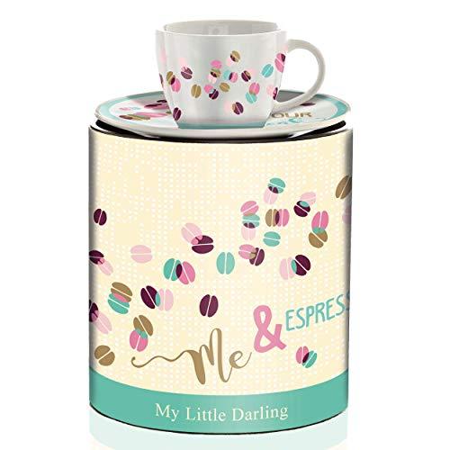 RITZENHOFF My Little Darling Espressotasse von Claudia Schultes (Break), aus Porzellan, 80 ml, mit Untertasse