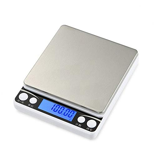 Báscula Digital para Cocina Báscula Digitales de Precisión 3kg/0.1g Balanza de Alimentos Multifuncional Peso de Cocina con Pantalla LCD (Estilo 2)