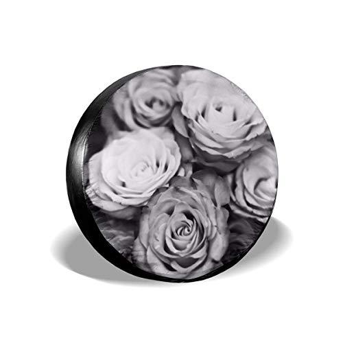 JONINOT Repuesto Cubierta de neumático 14'-17' Rosa Blanca Cubierta Ligera para Autos de Repuesto