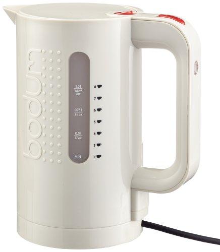 Bodum Bistro Elektrischer Wasserkocher (Automatisches Abschalten, 2200-Watt, 1,0 liters) cremefarben
