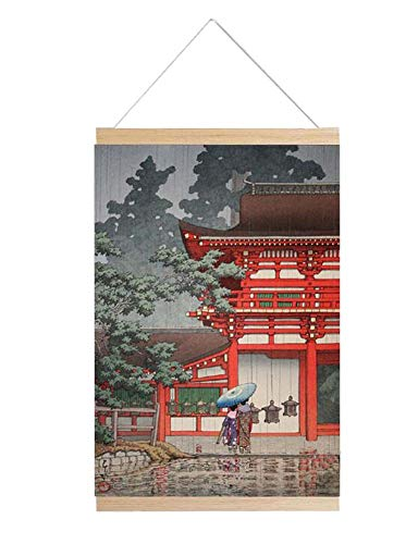Jingyun Japanische traditionelle Kunst Poster Sushi Shop Home Holzrahmen Wand Print B09