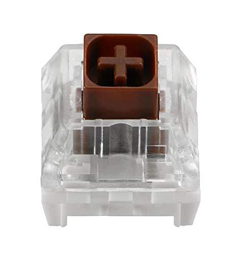 Kailh - Interruptores de caja para teclados mecánicos para juegos, Caja Marrón, 65 Pcs