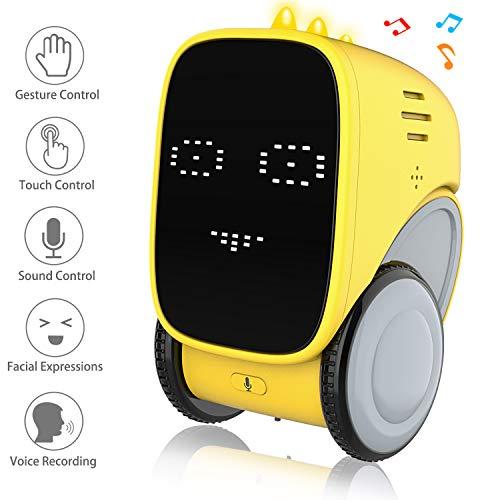 okk Giocattolo Robot, Giocattolo educativo STEM con Controllo dei gesti, Registrazione vocale, Espressione facciale Varia, Controllo vocale, Ottimo Co