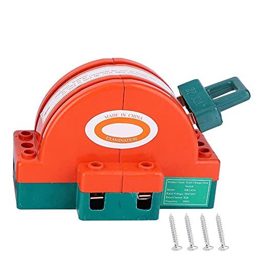 Interruptor eléctrico-Interruptor de desconexión de cuchilla de tiro doble Naranja Rojo Conexión de terminal Suministros eléctricos(2P 32A)