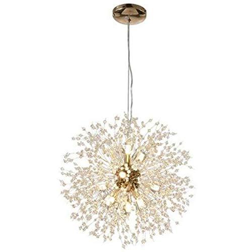 Varadyle Moderna lámpara de araña de cristal con iluminación LED