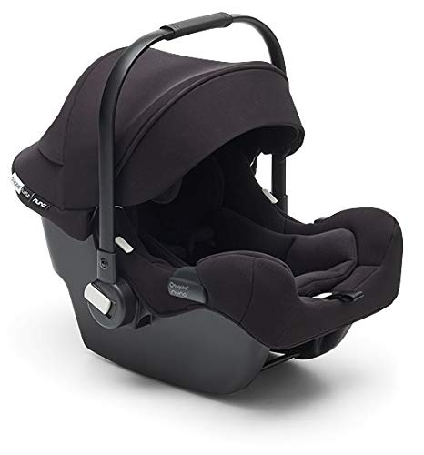 Bugaboo Turtle One by Nuna Car Seat + Base - Compatible with Bugaboo Fox, Lynx, Donkey Bee and Ant Strollers - Fits Infants 4 to 32 Pounds - 5-Point Safety Harness - Lightweight Car Seat - Black