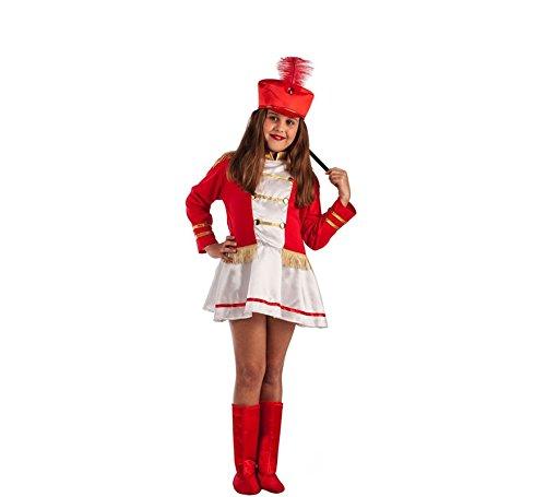El Rey del Carnaval Disfraz de Majorette Roja para niña