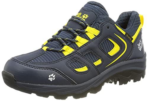 Jack Wolfskin Unisex Kinder Vojo Texapore Low K Wanderschuhe, Blue Yellow, 35 EU