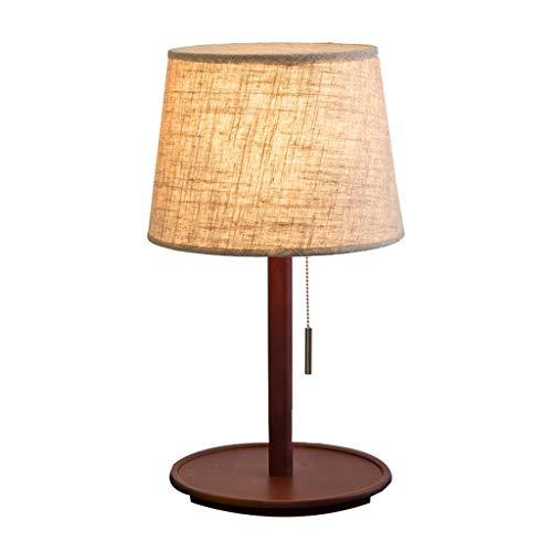 Hong Yi Fei-Shop Lampara Mesilla Dormitorio lámpara de Mesa lámpara de Mesa Pull Estilo Americano Moderno de la lámpara de Mesa de Madera pequeña cabecera Lámpara de Mesa