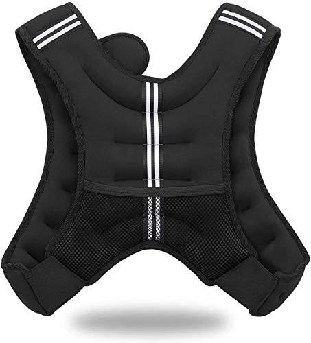 Jolitac Gewichtsweste Trainingsweste Gewichte Fitness Weste 5KG Laufweste Sport Gewichtsweste für Herren, Damen, Kinder Schwarz