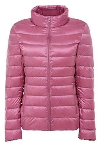 Santimon Damen Winter Warme Daunenjacke Packable Stehkragen Leichte Daunenmantel 11 Farben verfügbar Rosa M