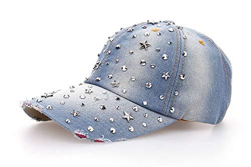 KCJMM-HAT Baseball Cap für Damen und Herren aus Reiner Baumwolle, verstellbar, Basecap Kappe Mütze Hut,Sternenhimmel, Diamant, Jeans, Baseballmütze, Sonnenschutzkappe, Outdoor-Sonnenhut, B