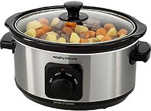 Morphy Richards 460017EER kooktoestel, 3,5 liter, geborsteld aluminium/roestvrij staal