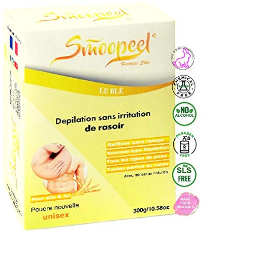 SMOOPEEL© depilacion área íntima 300g polvo / crema | Sin afeitar, no deja trazos de afeitado....
