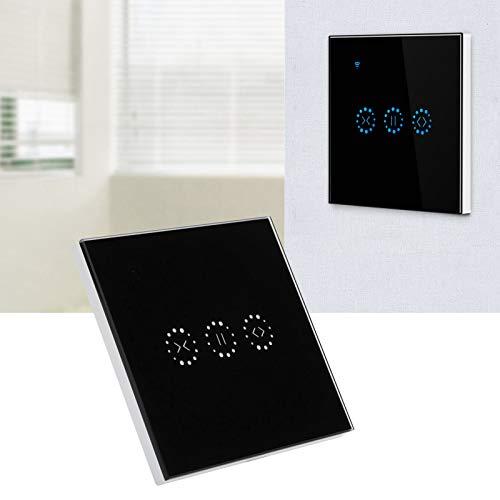 Interruptor táctil, Interruptor táctil de Pared Duradero con Control de App, CA 95-250V para casa de Garaje(Black Cover (2273003), Transl)
