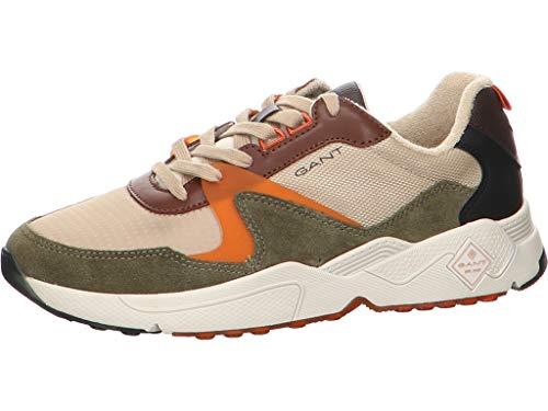 GANT Footwear Herren NICEWILL Sneaker, Dark Olive, 45 EU