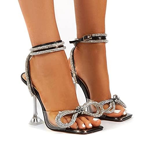 JUSTMAE 2021 Nuove Donne di Modo Sandali Gladiatore Scarpe Sexy Strass Scintillanti Sandali Tacchi Alti Scarpe da Sera Vestito da Partito di Estate Fibbie