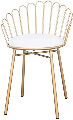 STOOL Sillas de escritorio, taburetes altos, pub, taburete, barra de desayuno, sillas de cocina con patas de metal dorado, decoración del hogar, diseño creativo,Blanco,65cm