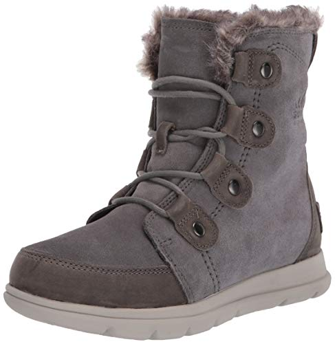 Sorel - Women's Explorer Joan Waterproof Insulated Winter Boot, Quarry, 8.5 M US