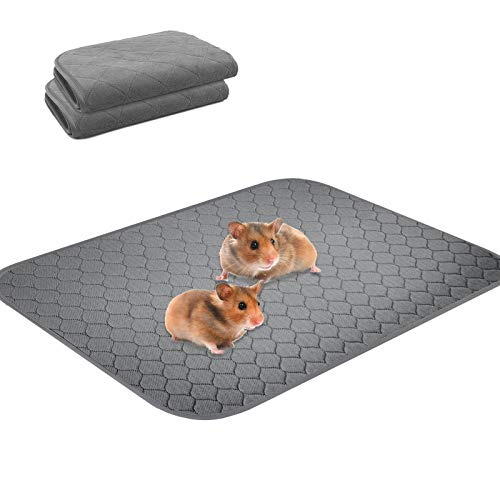 Snagle Paw 2 Pack Guinea Pig Fleece Cage Liners,Washable Guinea Pig Pee Pads,Non Slip Guinea Pig Bedding with Waterproof, Reusable,Great Absorbent Guinea Pig Mat for Small Animals,36' 41'