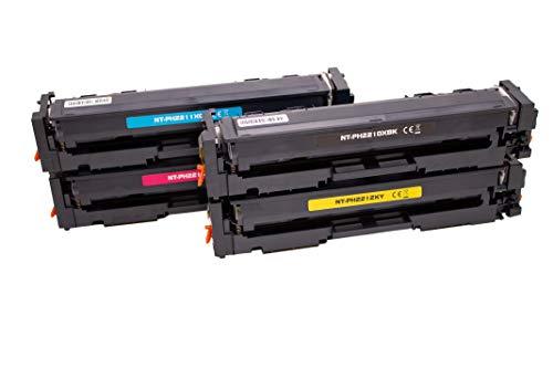 Set 4X Alternativ Toner für HP 207A 207X (Schwarz, Cyan,Magenta,Gelb) (ohne Chip) für HP Color Laserjet Pro M255 M255dw MFP M282 M282nw M283 M283cdw M283fdw von ABC