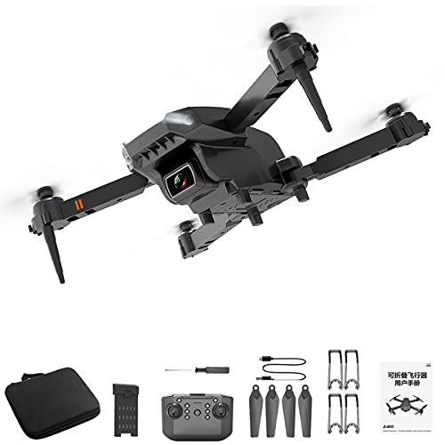 Greatangle-UK L703 Mini Drone WiFi FPV con Gran Angular Plegable Hight Hold Mode Cámara Dual 4K RC-Quadcopter RTF Drone Negro 1 * batería