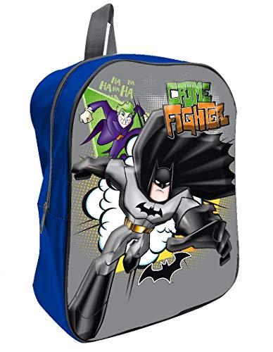 MCM mc Mochila Tiempo Libero 3D Batman Mochila para Niños, 36 cm, Gris