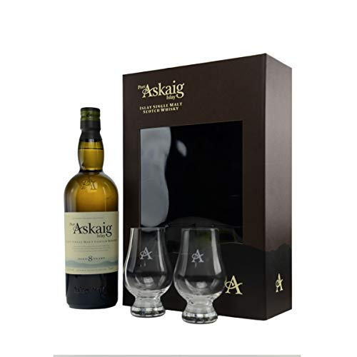 Port Askaig - Islay Single Malt Whisky - Geschenkset mit 2 Glencairn Gläsern