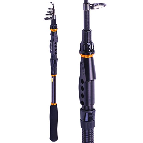 Sougayilang Fishing Rod - 24 Ton Carbon Fiber, Portable Telescopic Super Hard Ultralight Fishing...