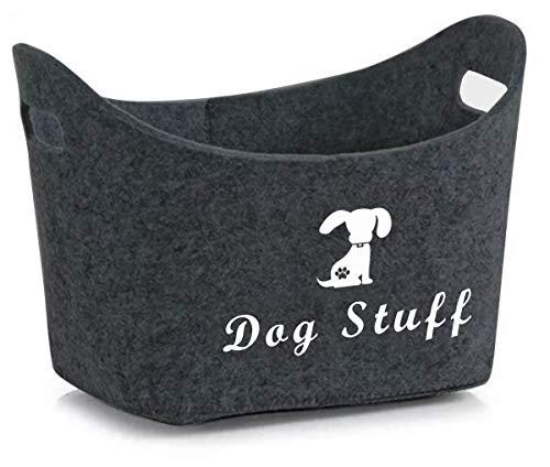 Filz Pet Toy Box & Dog Toy Box Aufbewahrung mit Griffen Pet Toy Korb - Perfekt für die Organisation von Haustier Spielzeug, Mäntel, Seile, Hund Kauspielzeug, Decken, Leinen