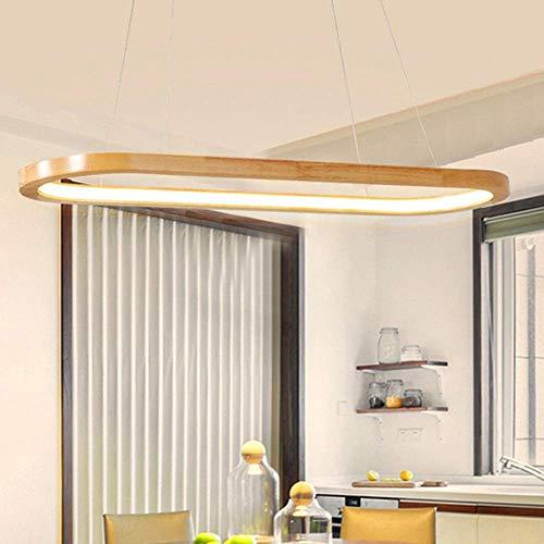 Living Equipment Lámpara LED Marco de suspensión Lámpara colgante de madera Lámpara colgante rústica Candelabro Accesorios de lámpara de techo Colgante Comedor Altura ajustable en lámpara ovalada S
