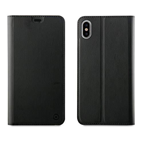 Muvit Folio - Funda para Apple iPhone XS MAX con función Soporte, Color Negro